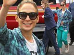Picture Shows: Jennifer Lopez  June 15, 2015\n \n Actress Jennifer Lopez waves to the cameras while leaving the set of 'Shades of Blue' in New York City, New York. 'Shades of Blue' is an upcoming police drama series created by Adi Hasak that is expected to air on NBC.\n \n Non-Exclusive\n UK RIGHTS ONLY\n \n Pictures by : FameFlynet UK © 2015\n Tel : +44 (0)20 3551 5049\n Email : info@fameflynet.uk.com