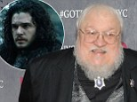 "NEW YORK, NY - MARCH 18:  Author George R.R. Martin attends the ""Game Of Thrones"" Season 4 New York premiere at Avery Fisher Hall, Lincoln Center on March 18, 2014 in New York City.  (Photo by Jamie McCarthy/Getty Images)   jon snow"
