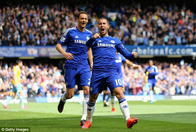 Bale's arrival would take some of the pressure away from Chelsea's star player Eden Hazard (right)