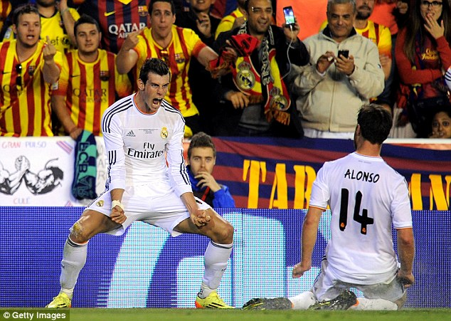 The former Spurs star also scored the winning goal during Madrid's Copa del Rey victory against Barcelona