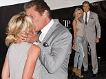 LONDON, ENGLAND - JUNE 16:  (L-R) Hayley Roberts and David Hasselhoff attends the Tresor Paris Store launch on June 16, 2015 in London, England.  (Photo by Ben A. Pruchnie/Getty Images)
