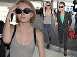 15 June 2015. Vanessa Paradis and Lily Rose Melody Depp  pictured at Los Angeles International Airport Credit: GoffPhotos.com   Ref: KGC-30/150615NR3