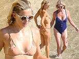 Exclusive... 51774539 Kate Hudson looks like a Greek goddess as she flaunts her amazing body in a skimpy two-piece on the beaches of Skiathos, Greece while on holiday with her mom Goldie Hawn and her estranged husband Matt Belamy on June 16, 2015. While ex Matt Bellamy looked on with the boys, Kate paraded her sexy 36 year old figure around the beach proudly, convincing her mom and her girlfriends to pose for flirty pics of their backsides. Hudson was joined by stylist Sophie Lopez and Kari DeLonge. NO INTERNET USE WITHOUT PRIOR AGREEMENT FameFlynet, Inc - Beverly Hills, CA, USA - +1 (818) 307-4813 RESTRICTIONS APPLY: USA ONLY