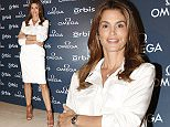 American model Cindy Crawford glams up for a fashion event for Omega in Hong Kong.  Pictured: Cindy Crawford Ref: SPL1057203  170615   Picture by: Imaginechina / Splash News  Splash News and Pictures Los Angeles: 310-821-2666 New York: 212-619-2666 London: 870-934-2666 photodesk@splashnews.com