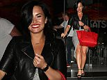 Demi Lovato is seen leaving Katuya restaurant in Hollywood in Los Angeles, California.  Pictured: Demi Lovato Ref: SPL1057193  170615   Picture by: Papjuice/Bauergriffin.com