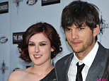 """08 Apr 2010, Los Angeles, California, USA --- (L-R) Actors Rumer Willis, Ashton Kutcher and Demi Moore arrive at the premiere of """"The Joneses""""  held at ArcLight Theater in Hollywood.  --- Image by © Frank Trapper/Corbis"""