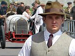 Picture Shows: Allen Leech  June 16, 2015\n \n Stars of Downton Abbey pictured in costume filming a Motor Vehicle meet with classic racing cars on set. \n \n Exclusive All Rounder\n WORLDWIDE RIGHTS\n FameFlynet UK © 2015\n Tel : +44 (0)20 3551 5049\n Email : info@fameflynet.uk.com