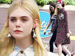 UK CLIENTS MUST CREDIT: AKM-GSI ONLY\nEXCLUSIVE: Blonde beauty Elle Fanning brings all that vintage glamour during a photo shoot in Malibu today, in between takes, she chatted with a few crew members and kept her pretty smile on at all times.\n\nPictured: Elle Fanning\nRef: SPL1056998  170615   EXCLUSIVE\nPicture by: AKM-GSI / Splash News\n\n
