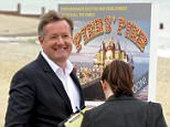 Picture Shows: Piers Morgan  June 15, 2015    ** Min Web / Online Fee £200 For Set **    British journalist and broadcaster Piers Morgan pictured filming a National Lottery advert, showing him in front of a pier that has his name on it, on Camber Sands in Sussex, UK.    ** Min Web / Online Fee £200 For Set **    Exclusive All Rounder  WORLDWIDE RIGHTS  FameFlynet UK © 2015  Tel : +44 (0)20 3551 5049  Email : info@fameflynet.uk.com