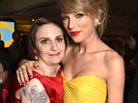 BEVERLY HILLS, CA - JANUARY 11:  Actress/director Lena Dunham (L) and singer/songwriter Taylor Swift attend HBO's Official Golden Globe Awards After Party at The Beverly Hilton Hotel on January 11, 2015 in Beverly Hills, California.  (Photo by Jeff Kravitz/FilmMagic)