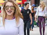 New York, NY - Joe Jonas and Gigi Hadid join a friend for a walk after hitting the gym, the blonde babe wore a white long sleeve workout top, purple and black leggings and Nike sneakers, while her boy kept it simple matching his dark colors.\nAKM-GSI       June 17, 2015\nTo License These Photos, Please Contact :\nSteve Ginsburg\n(310) 505-8447\n(323) 423-9397\nsteve@akmgsi.com\nsales@akmgsi.com\nor\nMaria Buda\n(917) 242-1505\nmbuda@akmgsi.com\nginsburgspalyinc@gmail.com