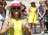 Reese Witherspoon visited Campidoglio Hill and admired the equestrian statue of Emperor Marco Aurelio on the square in Rome, Italy with her daughter and mother on June 18, 2015. After they visited the famous keyhole where you can admire a beautiful view of St. Peter.  Pictured: Reese Witherspoon and Ava Phillippe Ref: SPL1056518  180615   Picture by: AVSplash News  Splash News and Pictures Los Angeles: 310-821-2666 New York: 212-619-2666 London: 870-934-2666 photodesk@splashnews.com