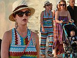 June 18th, 2015 - Mykonos\nKaty Perry wearing a multicolor playsuit, cream fedora and sunglasses takes a relaxing stroll around Mykonos Island with her family.  Her sister Angela can be seen pushing her 18 month old daughter around along with Katy's mother and father.\n****** BYLINE MUST READ : © Spread Pictures ******\n****** No Web Usage before agreement ******\n****** Strictly No Mobile Phone Application or Apps use without our Prior Agreement ******\nEnquiries at photo@spreadpictures.com