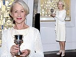 Mandatory Credit: Photo by ddp USA/REX Shutterstock (4850645b)\n Helen Mirren poses in front of Gustave Klimt's 'The Portrait of Adele Block-Bauer 1' as she is honored by the World Jewsih Congress for role as Maria Altman in the movie 'Woman In Gold'\n Helen Mirren honored at Neue Galerie, New York, America - 19 Jun 2015\n \n