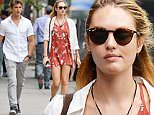 138884, EXCLUSIVE: Candice Swanepoel and her boyfriend Hermann Nicoli seen out and about in West Village, NYC. New York, New York - Thursday June 18, 2015. Photograph: © PacificCoastNews. Los Angeles Office: +1 310.822.0419 sales@pacificcoastnews.com FEE MUST BE AGREED PRIOR TO USAGE