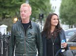 EXCLUSIVE ALL ROUNDER Chris Evans enjoys an evening stroll with his wife Natasha Shishmanian, 15 May 2015 15 May 2015. Please byline: Vantagenews.co.uk