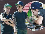 EXCLUSIVE. Coleman-Rayner. Los Angeles CA, USA ..June 16, 2015..The new star of the hit Netflix show, Orange is the New Black, Australian actress Ruby Rose is spotted grabbing breakfast in Los Angeles with fiancee Phoebe Dahl. Rose and Dahl looked the happy family as they posed for photos with their dogs in Los Angeles today. ..CREDIT LINE MUST READ: Coqueran/Coleman-Rayner...Tel US (001) 310-474-4343 - office ..Tel US (001) 323 545 7584 - cell..www.coleman-rayner.com. Los Angeles CA, USA