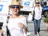 UK CLIENTS MUST CREDIT: AKM-GSI ONLY..EXCLUSIVE: Actress, Naomi Watts keeps it cool with her blue ombre shades and tan fedora as she leaves a waxing salon.....Pictured: Naomi Watts..Ref: SPL1057982  170615   EXCLUSIVE..Picture by: AKM-GSI / Splash News....