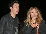 19 June 2015. Nat Wolff & Suki Waterhouse seen leaving The Strokes gig held at Hyde Park in London. Credit: GoffPhotos.com   Ref: KGC-49
