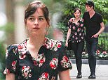 New York, NY - Dakota Johnson and boyfriend Matthew Hitt hold hands as they take their dog for a walk in New York City.\n AKM-GSI June 20, 2015\n \n To License These Photos, Please Contact :\n \n Steve Ginsburg\n (310) 505-8447\n (323) 423-9397\n steve@akmgsi.com\n sales@akmgsi.com\n \n or\n \n Maria Buda\n (917) 242-1505\n mbuda@akmgsi.com\n ginsburgspalyinc@gmail.com