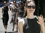 Picture Shows: Emmy Rossum  June 20, 2015\n \n 'Shameless' actress Emmy Rossum spotted out for lunch with friends in Pasadena, California. Emmy looked sleek and stylish in a black midi dress.\n \n Non Exclusive\n UK RIGHTS ONLY\n \n Pictures by : FameFlynet UK © 2015\n Tel : +44 (0)20 3551 5049\n Email : info@fameflynet.uk.com