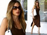 Attention: Do Not Use Without Prior Approval\nPREMIUM EXCLUSIVE - Sofia Vergara was spotted, loooking amazing in a sleeveless earth-toned dress. The actress was shopping at E Braun Fine Linens, on Saturday, June 20, 2015 X17online.com