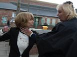 FROM ITV\n\nSTRICT EMBARGO - No Use Before Sunday 21 June 2015 \n\nCoronation Street - Ep 8672\n\nMonday 29 June 2015 - 2nd Ep\n\nGail Rodwell [HELEN WORTH] rages at Eileen Grimshaw [SUE CLEAVER]. Eileen does her best to defend herself, assuring Gail they only kissed and Michael isn¿t really her type, but this only serves to fuel Gail¿s anger. Gail pursues Eileen out of the salon and the two women fight on the street. The Platts watch in horror as Gail and Eileen brawl on the cobbles. In her rage Gail makes some disparaging remarks about Michael Rodwell [LES DENNIS] but her anger quickly turns to regret as she spots Michael who¿s heard every word. Can he forgive Gail¿s behaviour or are the couple back to square one? \n\nPicture contact: david.crook@itv.com on 0161 952 6214\n\nPhotographer - Mark Bruce\n\nThis photograph is (C) ITV Plc and can only be reproduced for editorial purposes directly in connection with the programme or event mentioned above, or ITV plc. Once made available by