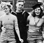 BLACK AND WHITE ONLY Handout photo dated 8/5/1945 issued by Imperial War Museums of two young women Joyce Digney (nee Brookes) (left) and Cynthia Covello (nee Lowe), who were famously photographed celebrating VE Day with two sailors in a fountain in Trafalgar Square, central London, who have been traced thanks to an appeal on social media. PRESS ASSOCIATION Photo. Issue date: Sunday June 21, 2015. The Imperial War Museums (IWM) wanted to find out more about the women in the picture taken during the Victory in Europe celebrations on May 8, 1945, which has been used across the world to highlight the end of the Second World War in Europe, as their information about the photograph was sparse. See PA story HERITAGE Photograph. Photo credit should read: Imperial War Museums/PA Wire NOTE TO EDITORS: This handout photo may only be used in for editorial reporting purposes for the contemporaneous illustration of events, things or the people in the image or facts mentioned in the caption. Reuse