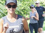 Pacific Palisades, CA - Reese Witherspoon and hubby Jim Toth get their sweat on while going for a run on this Father's Day morning. \n  \nAKM-GSI        June  21, 2015\nTo License These Photos, Please Contact :\nSteve Ginsburg\n(310) 505-8447\n(323) 423-9397\nsteve@akmgsi.com\nsales@akmgsi.com\nor\nMaria Buda\n(917) 242-1505\nmbuda@akmgsi.com\nginsburgspalyinc@gmail.com
