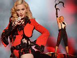 LONDON, ENGLAND - FEBRUARY 25:  Madonna performs live on stage at the BRIT Awards 2015 at The O2 Arena on February 25, 2015 in London, England.  (Photo by Jim Dyson/WireImage)