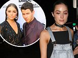 """Picture Shows: Olivia Culpo  June 19, 2015\n \n Former Miss Universe Olivia Culpo looks a bit sad as she goes to dinner with a friend at Gracias Madre in West Hollywood, California.\n \n Olivia shared her heartbreak on Instagram after her split from Nick Jonas (after two years of dating). """"Your heart just breaks, that's all. Heartbreak is hard but you find more and more things to be grateful for every day. One of those things is all of you. Thank you all. Yes I'm going to be okay and I love u guys so so much every day is a blessing.""""\n \n Non Exclusive\n UK RIGHTS ONLY\n \n Pictures by : FameFlynet UK © 2015\n Tel : +44 (0)20 3551 5049\n Email : info@fameflynet.uk.com"""