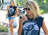 Model Charlotte McKinney shopping in Malibu in tiny shorts EXCL  June 21, 2015 X17online.com EXCL