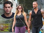 LOS ANGELES, CA - JULY 14: Kelly Brook and David McIntosh are seen on July 14, 2014 in Los Angeles, California.  (Photo by Bauer-Griffin/GC Images)
