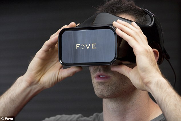 Using the movement of the head and eyes, gamers using the Fove virtual reality device (pictured) will be able to control games with the blink of an eye