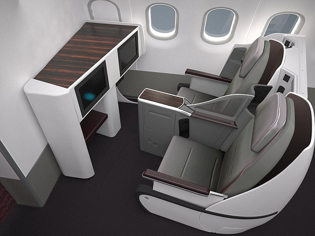 Extra leg room: Inside Qatar Airways' new all-business flight on its spacious Airbus A319
