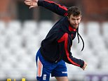 MANCHESTER, ENGLAND - JUNE 22:  James Anderson of England bowls during a nets session at Old Trafford on June 22, 2015 in Manchester, England.  (Photo by Gareth Copley/Getty Images)