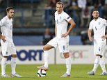 Football - England v Italy - UEFA European Under 21 Championship - Czech Republic 2015 - Group B - Ander Stadium, Olomouc, Czech Republic - 24/6/15  England's Danny Ings, Harry Kane and Jake Caskey look dejected after Andrea Belotti (not pictured) scored the first goal for Italy  Action Images via Reuters / Carl Recine  Livepic