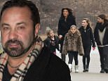 **MANDATORY BYLINE MUST READ ONLY 'ELDER ORDONEZ/INFPHOTO.COM'**..***PREMIUM RATES APPLY***..January 4, 2015: Teresa Giudice, husband Joe Giudice and their four daughters, Gia, Gabriella, Milania and Audriana visit the Cathedral Basilica of Sacred Heart Church in Newark, New Jersey on her last day before going to prison. Teresa pleaded guilty to bankruptcy fraud and conspiracy to commit mail and wire fraud in March 2013. Joe was also sentenced and will begin his 41-month sentence once Teresa has served her time...Mandatory Credit: Elder Ordonez/INFphoto.com..Ref: infusny-160
