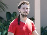 Picture Shows: Shia LaBeouf  May 02, 2015.. .. 'Fury' actor Shia LaBeouf stops by Home Depot to pick up some supplies in Panorama City, California. .. .. Shia picked up some plastic tubing for his watering system in his at home hydroponic set up... .. Exclusive All Rounder.. UK RIGHTS ONLY.. FameFlynet UK © 2015.. Tel : +44 (0)20 3551 5049.. Email : info@fameflynet.uk.com
