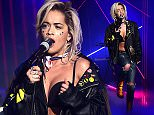 Rita Ora performs during filming of the Graham Norton Show at the London Studios, south London, to be aired on Friday. PRESS ASSOCIATION Photo. Picture date: Thursday June 25, 2015. Photo credit should read: Ian West/PA Wire