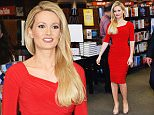 """NEW YORK, NY - JUNE 24:  Holly Madison signs copies of """"Down The Rabbit Hole: Curious Adventures and Cautionary Tales of a Former Playboy Bunny"""" at Barnes & Noble Citigroup Center on June 24, 2015 in New York City.  (Photo by Slaven Vlasic/Getty Images)"""