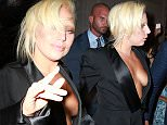 Picture Shows: Lady Gaga  June 24, 2015    Singer Lady Gaga steps out in a very revealing suit in New York City, New York. Gaga was also seen rocking bleached blonde eyebrows which matched her hair colour.    Non Exclusive  UK RIGHTS ONLY    Pictures by : FameFlynet UK © 2015  Tel : +44 (0)20 3551 5049  Email : info@fameflynet.uk.com
