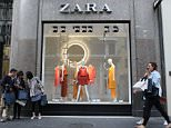 Shoppers pass the window display of a Zara fashion store, operated by Inditex SA, in Nice, France, on Thursday, May 14, 2015. The European Commission and the International Monetary Fund both see expansion of more than 1 percent this year, more than twice the annual pace recorded since President Francois Hollande came to power in 2012. Photographer: Andrey Rudakov/Bloomberg via Getty Images