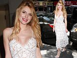 Actress Bella Thorne spotted visiting the 'Today' show in NYC's Rockefeller Plaza wearing a white lace dress with spaghetti straps.\n\nPictured: Bella Thorne\nRef: SPL1062945  250615  \nPicture by: Fortunata/Splash\n\nSplash News and Pictures\nLos Angeles: 310-821-2666\nNew York: 212-619-2666\nLondon: 870-934-2666\nphotodesk@splashnews.com\n