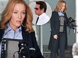 Picture Shows: Gillian Anderson  June 24, 2015\n \n Actors, Gillian Anderson and David Duchovny are spotted on the set of 'The X-Files' filming in Vancouver, Canada. 'The X-Files' returns for six new episodes this coming January on Fox.\n \n EXCLUSIVE All Rounder\n UK RIGHTS ONLY\n \n Pictures by : FameFlynet UK © 2015\n Tel : +44 (0)20 3551 5049\n Email : info@fameflynet.uk.com