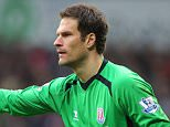 WEST BROMWICH, ENGLAND - MARCH 14: Asmir Begovic of Stoke City during the Barclays Premier League match between West Bromwich Albion and Stoke City at The Hawthorns on March 14, 2015 in West Bromwich, England. (Photo by Dave Thompson/Getty Images)