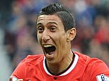Manchester United's Angel Di Maria celebrates scoring the opening goal during the English Premier League soccer match between Manchester United and Queens Park Rangers at Old Trafford in Manchester, Britain, 14 September 2014.   EPA/PETER POWELL DataCo terms and conditions apply  http://www.epa.eu/files/Terms%20and%20Conditions/DataCo_Terms_and_Conditions.pdf