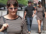 Helena Christensen is seen walking through the East Village with her boyfriend Paul Banks, 25 June 2015.\n26 June 2015.\nPlease byline: Vantagenews.co.uk