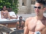 US & UK CLIENTS MUST ONLY CREDIT KDNPIX<BR/>\nRobin van Persie, professional footballer, enjoying his vacation in Miami  with his wife Bouchra Elbali\n<P>\nPictured: Robin van Persie and Bouchra Elbali\n<B>Ref: SPL1063178  250615  </B><BR/>\nPicture by: KDNPIX<BR/>\n</P><P>\n<B>Splash News and Pictures</B><BR/>\nLos Angeles: 310-821-2666<BR/>\nNew York: 212-619-2666<BR/>\nLondon: 870-934-2666<BR/>\nphotodesk@splashnews.com<BR/>\n</P>