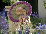 Model Nina Schubert poses on the M&G Garden at Royal Horticultural Society's Chelsea Flower Show in London on 19 May, 2014. ******* RHS / Bethany Clarke / 19.5.14